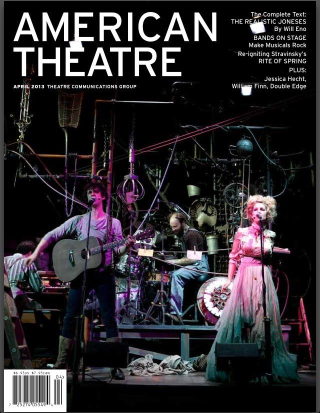 FUTURITY on the cover of American Theater Magazine